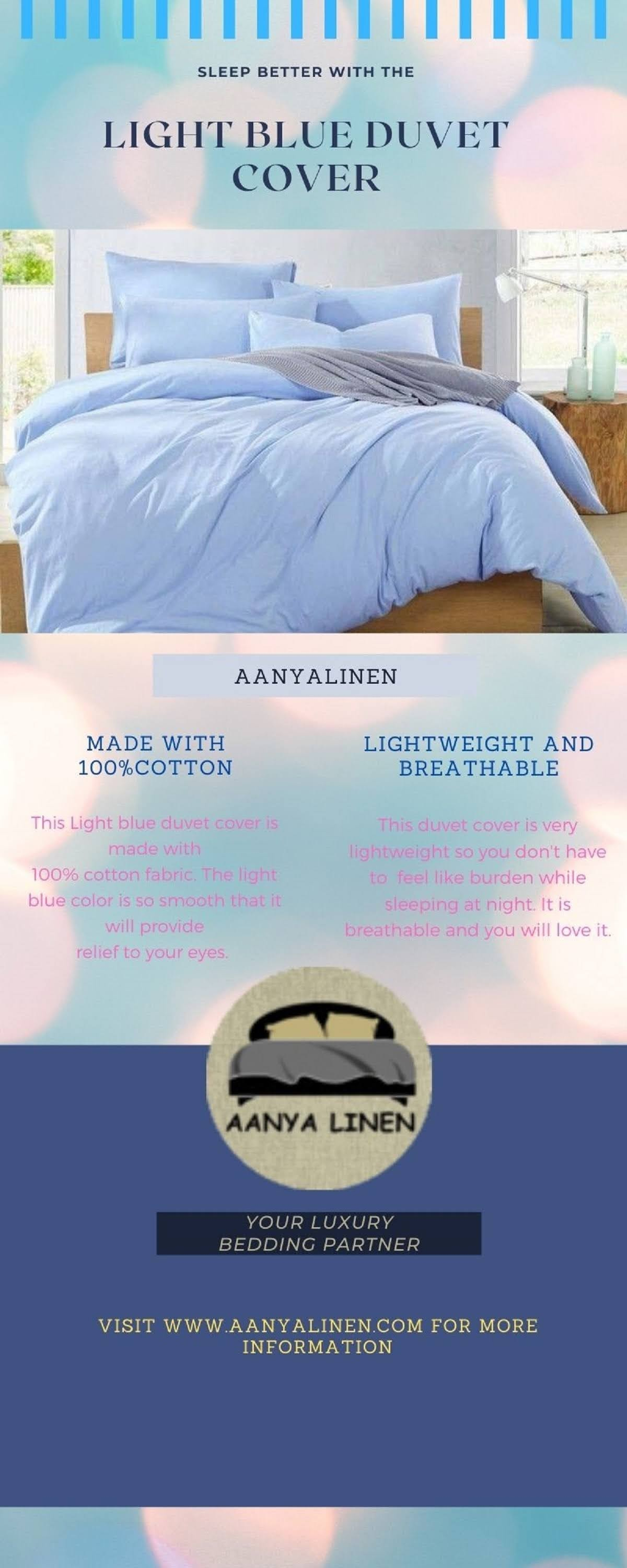 Beautiful light blue duvet cover #infographic