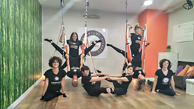 yoga aerien, aeroyoga, air yoga, stage, formation, formation yoga, enseignants, aeropilates, aerial pilates, aerial yoga, madrid, espagne, france, paris, aix en provence