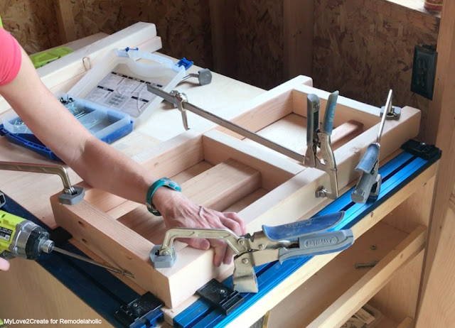Build the sides of the table frame