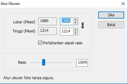 Editing Size
