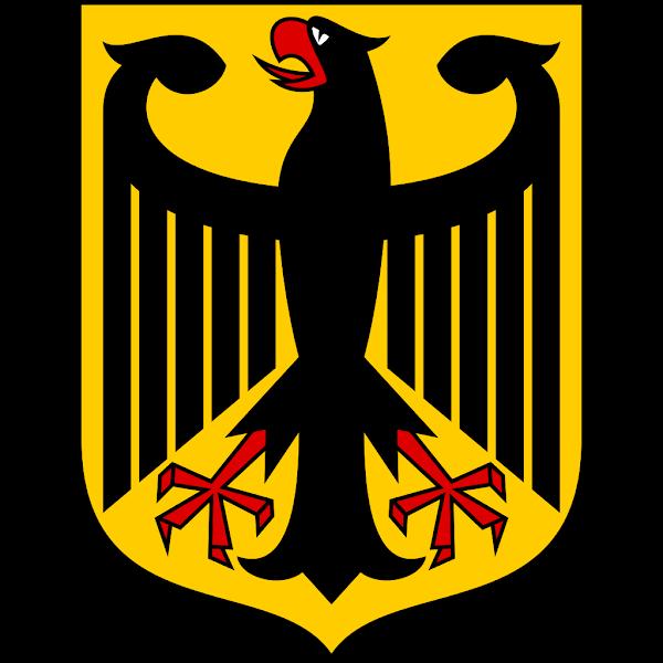 Logo Gambar Lambang Simbol Negara Jerman PNG JPG ukuran 600 px