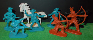 30mm Figures; Nigrin; Cowboy Horses; Cowboys; Cowboys & Indians; Cowboys and Indians; Female With Papoose; Foot Indians; Hong Kong; Jean Höffler; Jean Originals; Made In Germany; De Gruyter; Mounted Natives; Small Scale World; smallscaleworld.blogspot.com; Stage Coach; Swoppet; Eri; Wagon Horse; Wild West; Wundertüten; Reindorf; Marx; Korona