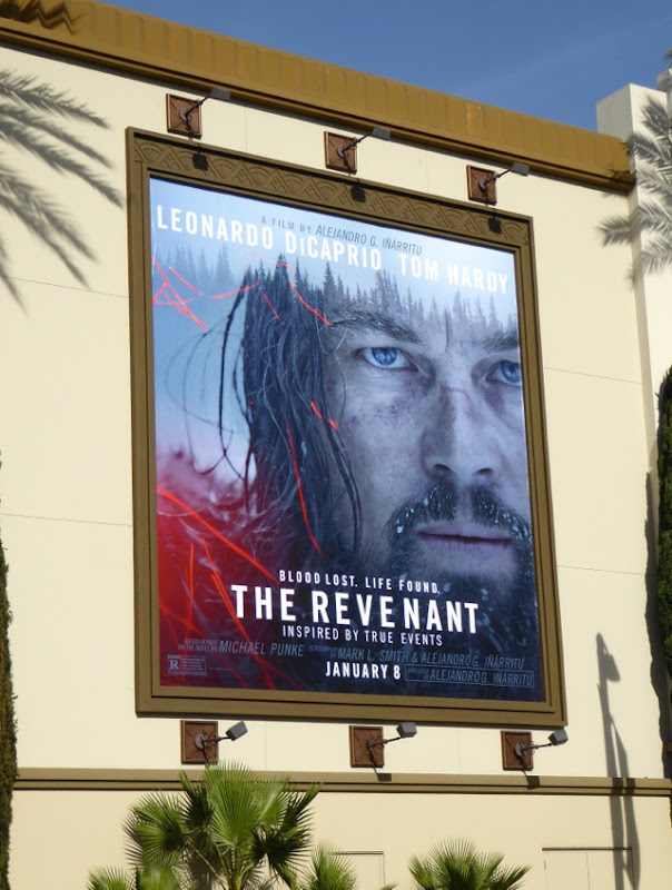 Leonard DiCaprio The Revenant movie billboard