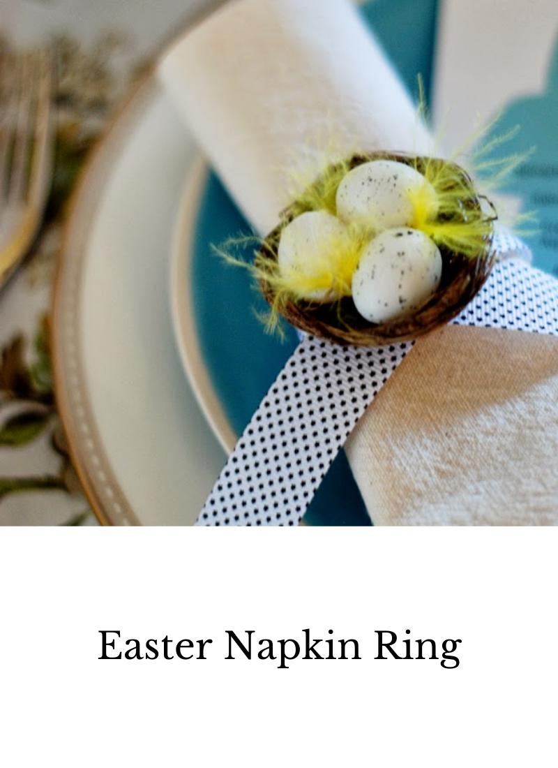 DIY Easter napkin ring