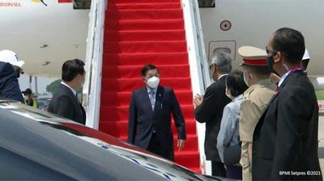 Panglima Kudeta Myanmar Jenderal Min Aung Hlaing Mendarat di Soetta