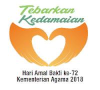 Logo Hari Amal Bhakti Kementerian Agama ke 72 tahun 2018