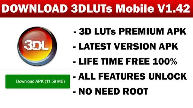 3D LUTs Mobile Pro MOD APK V1.42 [Pro Unlocked] - Free Download