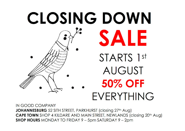 GOODBYE - Our Closing Down Sale