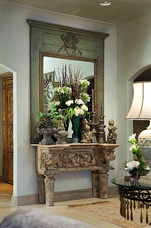 eye for design decorating with french trumeau mirrors. Black Bedroom Furniture Sets. Home Design Ideas
