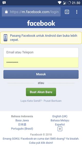 Login FB