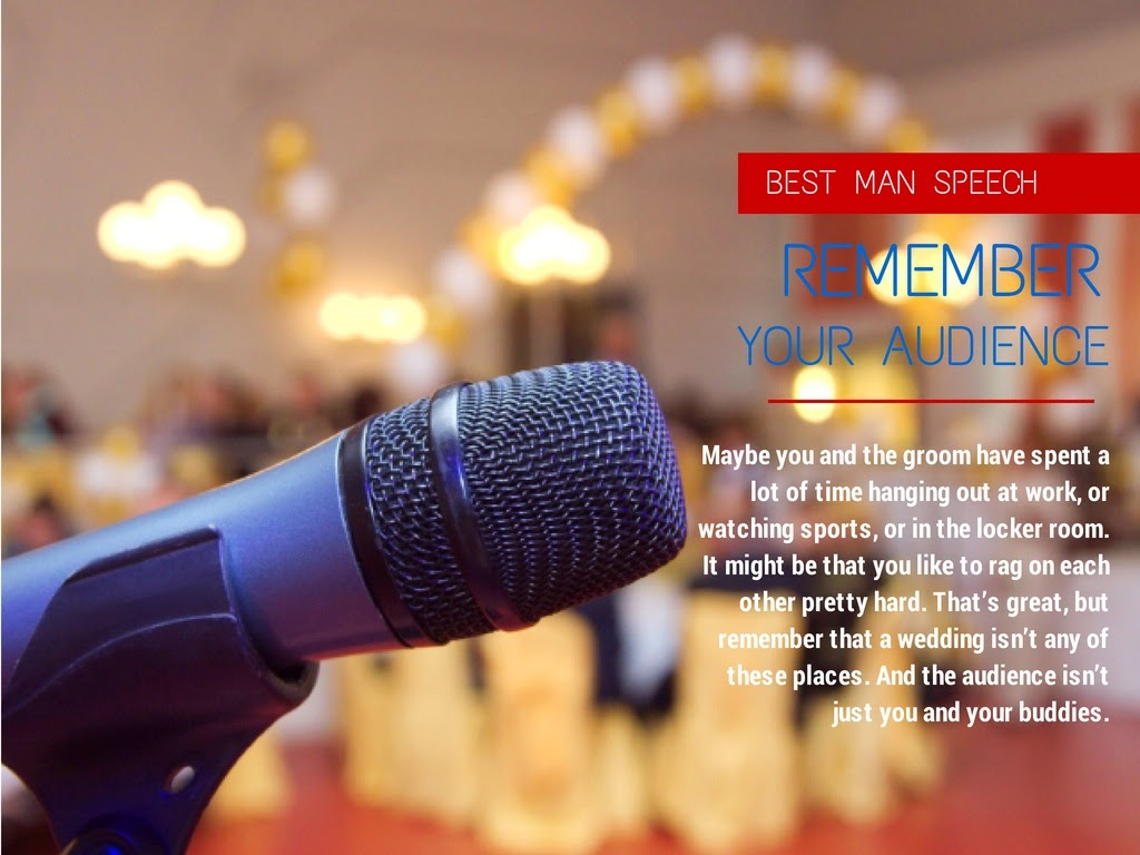 How to write a great Best Man speech