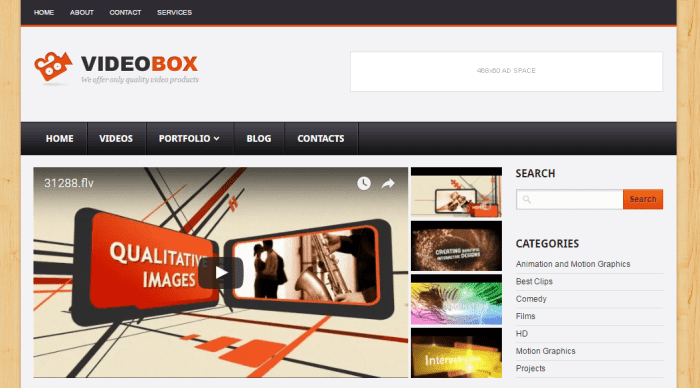 VideoBox blogger template to publish a video blog. - Find India Find