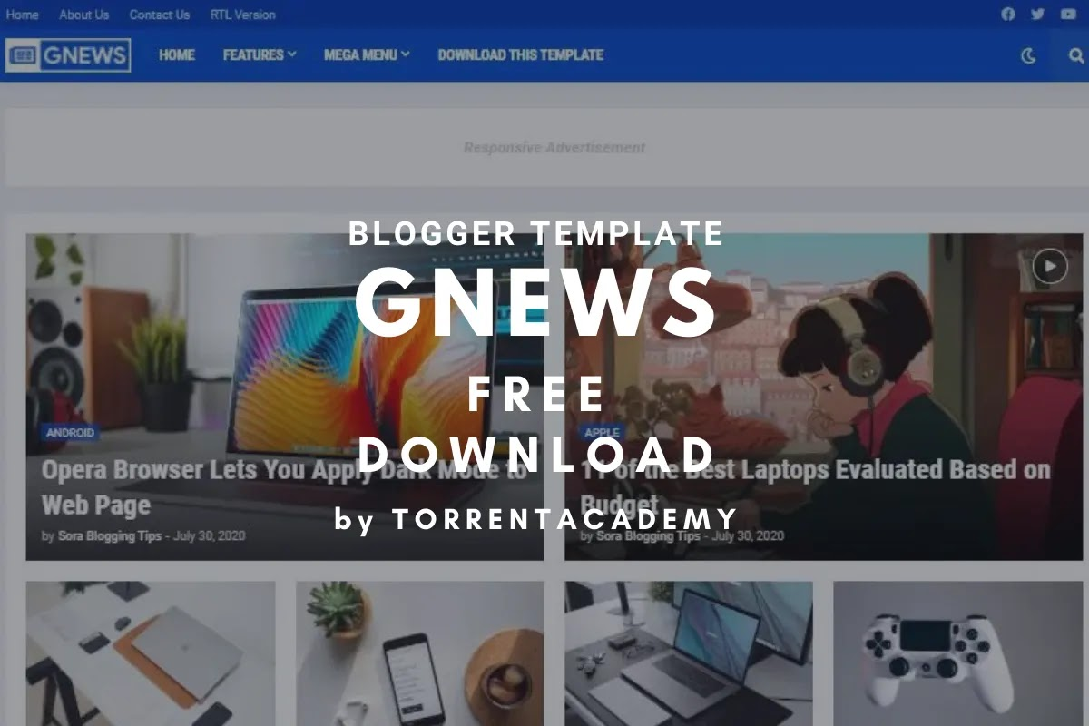 GNews premium blogger template home page
