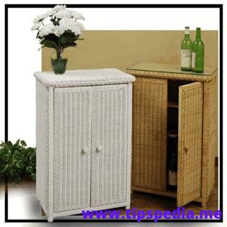 white wicker bathroom cabinet