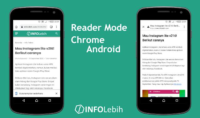 Cara Mengaktifkan Mode Pembaca di Chrome Android