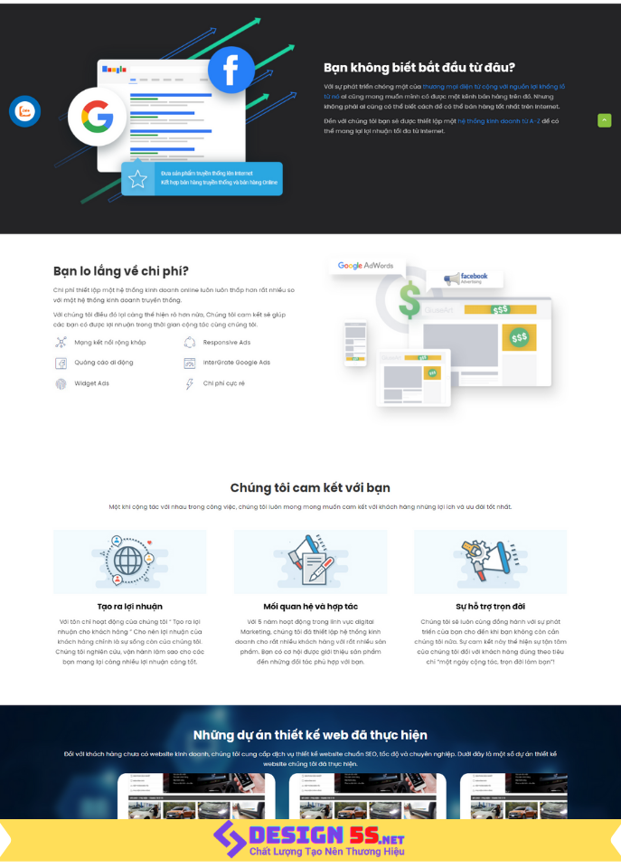 Theme blogspot thiết kế web kết hợp marketing VSM67 - Ảnh 2
