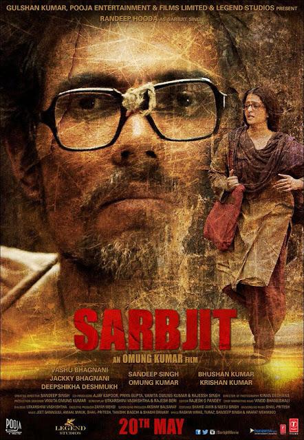 Randeep Hooda and Aishwarya Rai Bachchan in the movie Sarbjit.