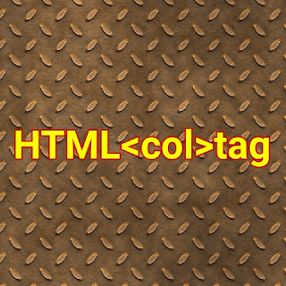 HTML <col> tag