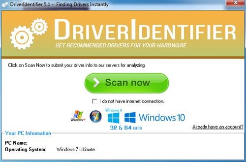 تحميل برنامج تحديث تعريفات الجهاز DriverIdentifier