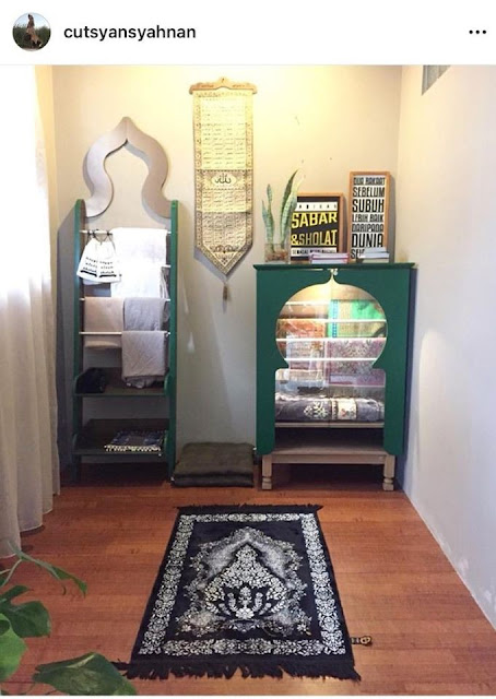 Small Namaz Room in House Or Salah Room Ideas