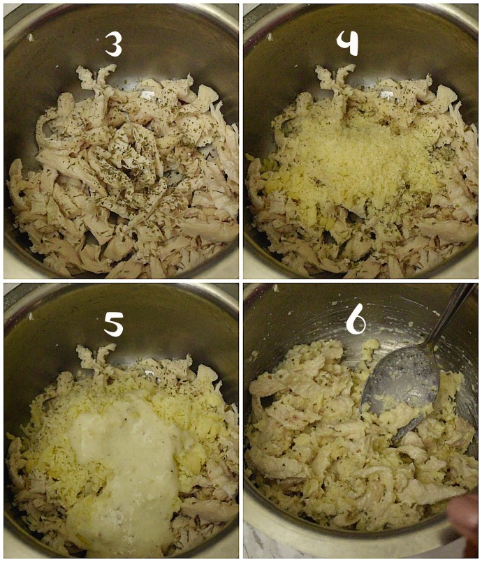 how to make chicken alfredo for lasagna roll ups