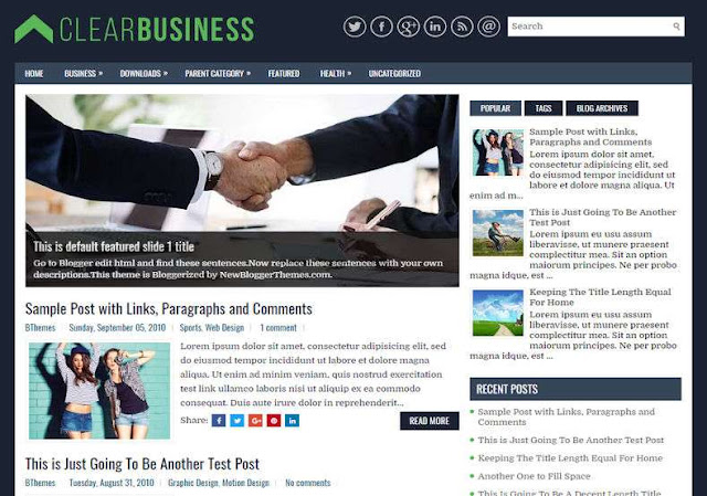 Clear Business Blogger Theme