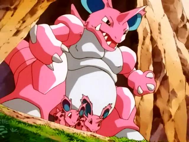 Nidoking Rosa Anime Pokémon