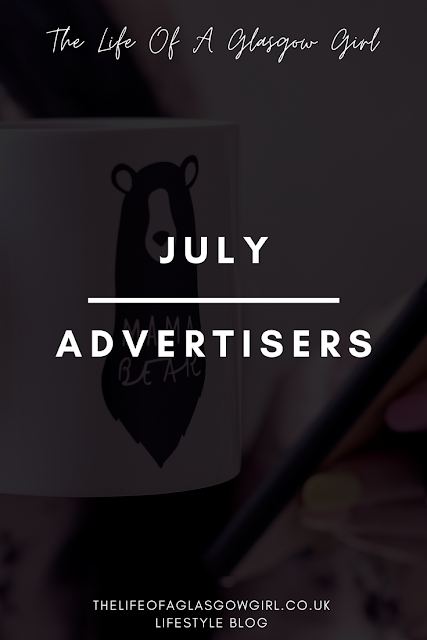 Pinterest graphic for 4 bloggers to check out this July - July advertisers post on Thelifeofaglasgowgirl.co.uk