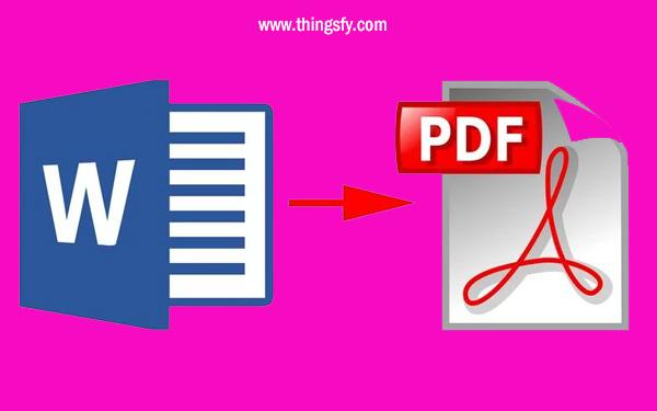 Cara mengubah File Word Menjadi bentuk PDF