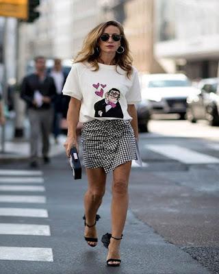 minifalda con cuadros de moda