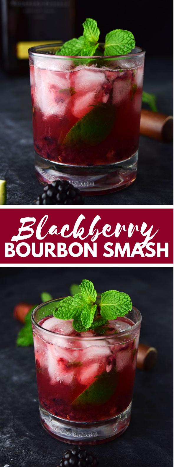 Blackberry Bourbon Smash (Whiskey Smash Recipe) #cocktails #drinks