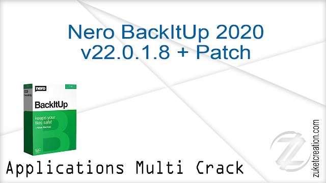 Nero BackItUp 2020 v22.0.1.8 + Patch
