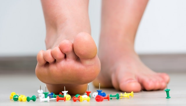 common symptoms of neuropathy sharp pain foot numbness neuropathic signs tingling