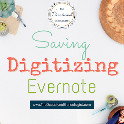 More on Saving on Subscriptions | Digitization first steps | Evernote