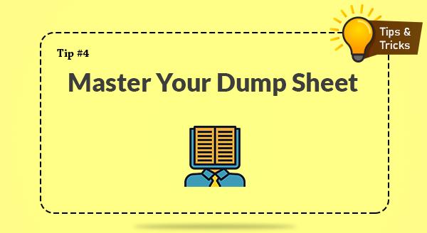 Master Your Dump Sheet