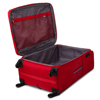 VIP Pisa Polyester 78 cms Red Softsided Check-in Luggage with Anti-theft Zipper.