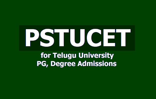 PSTUCET 2019 for Potti Sreeramulu Telugu University PG, Degree admissions