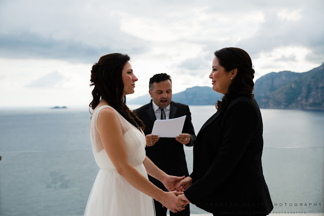 Same sex wedding ceremony Amalfi Coast