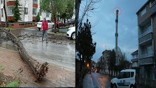 في يومها الأول.. عاصفة في تركيا تخلف أضرار جسيمة (صور+فيديو)