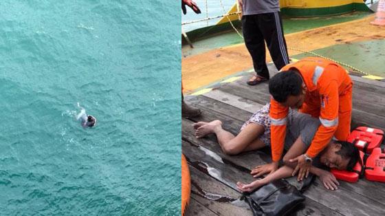 Video Pria Terapung-apung di Laut Diduga WNI Yang Jadi Viral