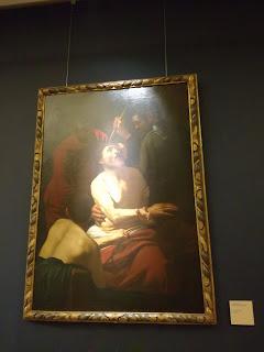 Immagine del quadro di Caravaggio presso Galleria Alberti