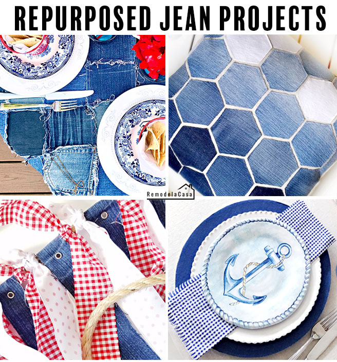 upcycle denim - projects