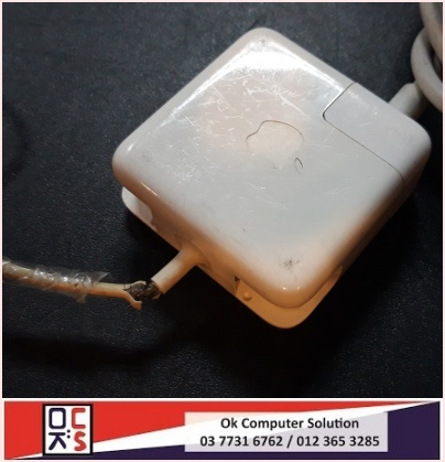 [SOLVED] KABEL / CABLE CHARGER MACBOOK KOYAK | REPAIR MACBOOK DAMANSARA 3