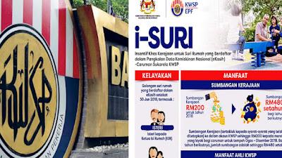 Cara Daftar i-Suri KWSP Bagi Suri Rumah RM480 Setahun