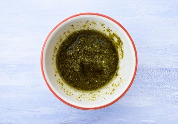 small bowl of pesto