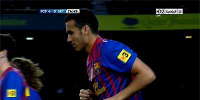 LFP-Week-33 : Barcelona 4 vs 0 Getafe 10-04-2012