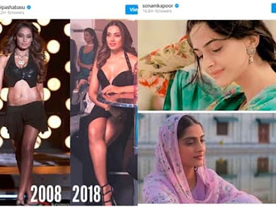 Bollywood Celebs 10 Year Challenge Viral on Social Media