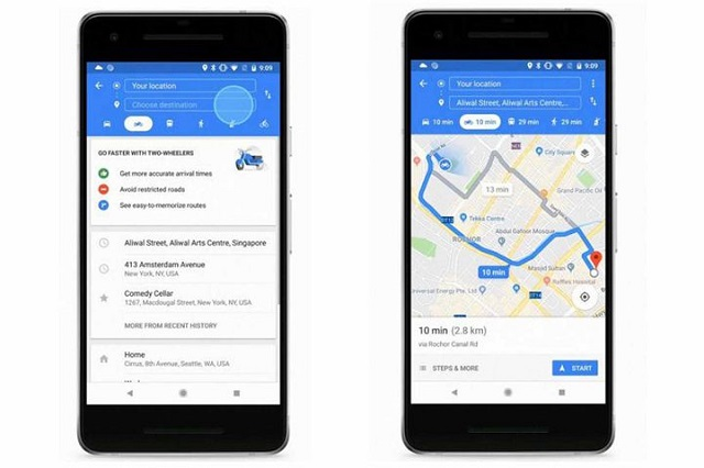 Google Maps for Motorcycles