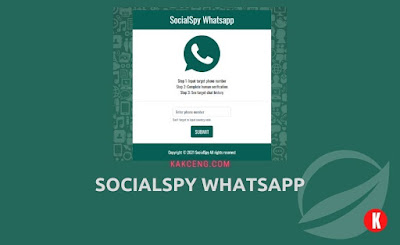 Social Spy Whatsapp Aplikasi Sadap WA Online