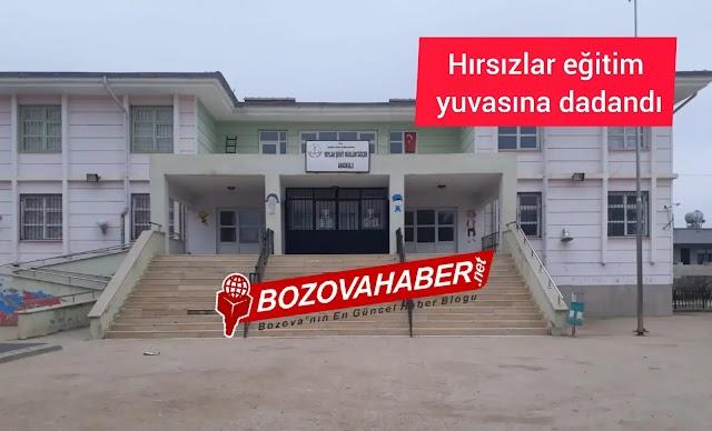 Hırsızlar Bozova'da bu sefer okula dadandı